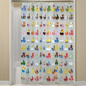 ALL SORTS OF RUBBER DUCKS ~ 70 X 72 Peva Shower Curtain