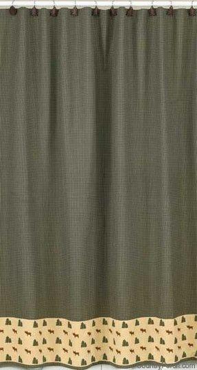Moose Bear Shower Curtain - Foter