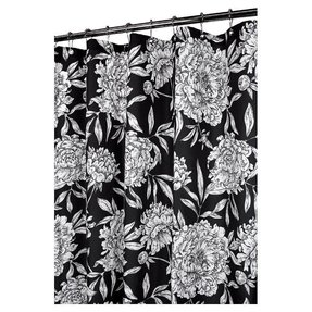 Black And White Flower Shower Curtain. Park B  Smith Peony Shower Curtain Black White Foter