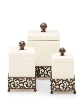 Press Metal Danbury Set Of 3 Square Canisters