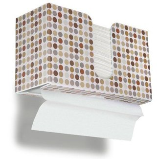 "TrippNT 51339 Retro Dots Plastic Dual-Dispensing Paper Towel Holder, 11"" Width x 6"" Height x 4"" Depth"