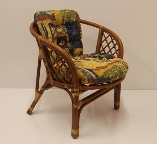 Ordinaire Bahama Handmade Rattan Wicker Chair With Cushion