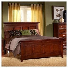 California King Size Bed Panel Headboard in Espresso