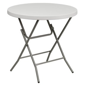 Flash Furniture Square Granite White Plastic Folding Table, 27-Inch