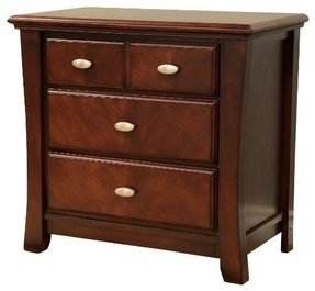 Frenchi Home Furnishing Two Drawer Nightstand