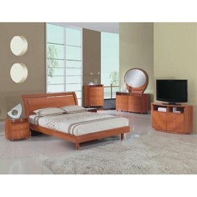 Global Furniture USA Emily Collection MDF/Wood Veneer Bedroom Set with Dresser, 63 by 31-Inch, Cherry