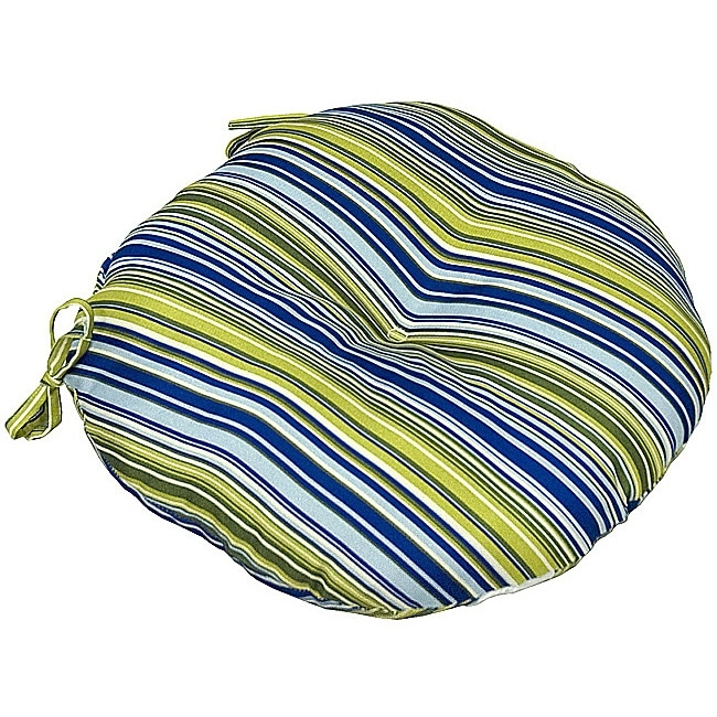 Merveilleux Greendale Home Fashions IC5817S2 Vivid Round Indoor Bistro Chair Cushion  With Vivid Stripe, 18