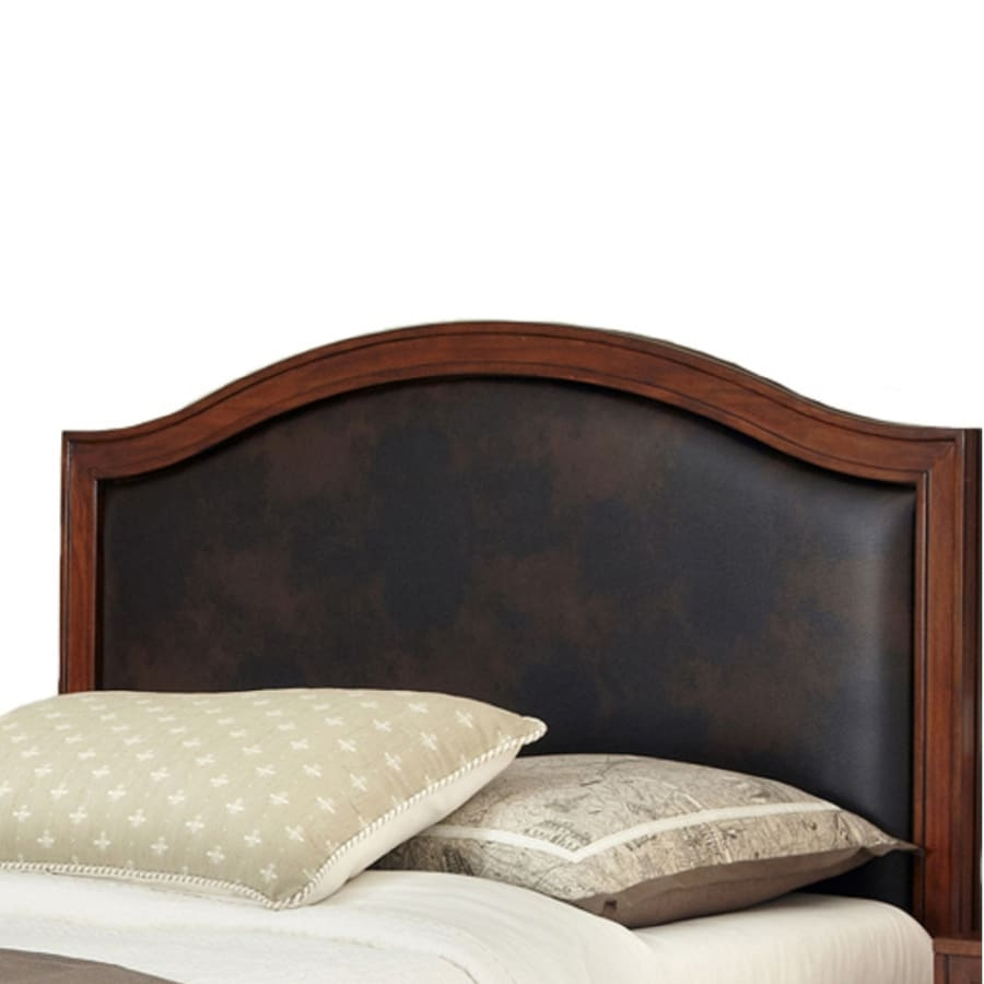 Home Styles Duet King/California King Panel Headboard, Brown Leather Inset