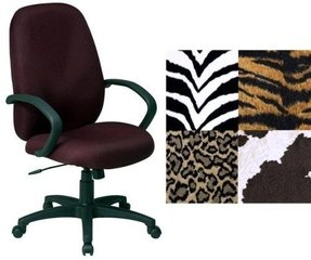 OSP EX2654-244 Work Smart Tiger Fabric Animal Print Ergonomic Executive Office Desk Chairs
