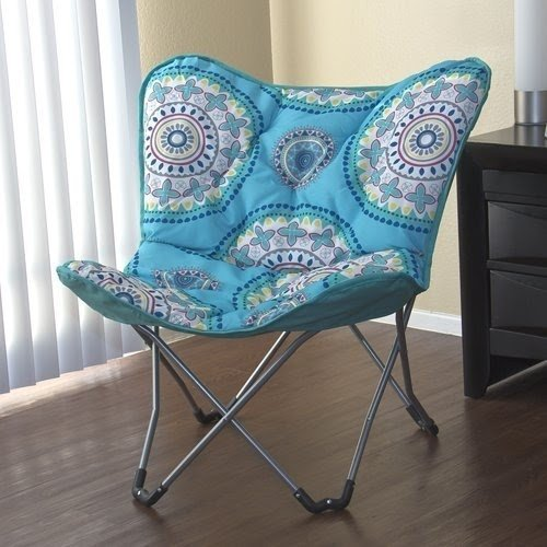 Exceptional Padded Butterfly Lounge Chair Dorm Room Bedroom Folding Stylish Design New