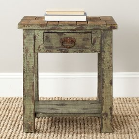Safavieh American Homes Collection Alfred End Table, Antique Green