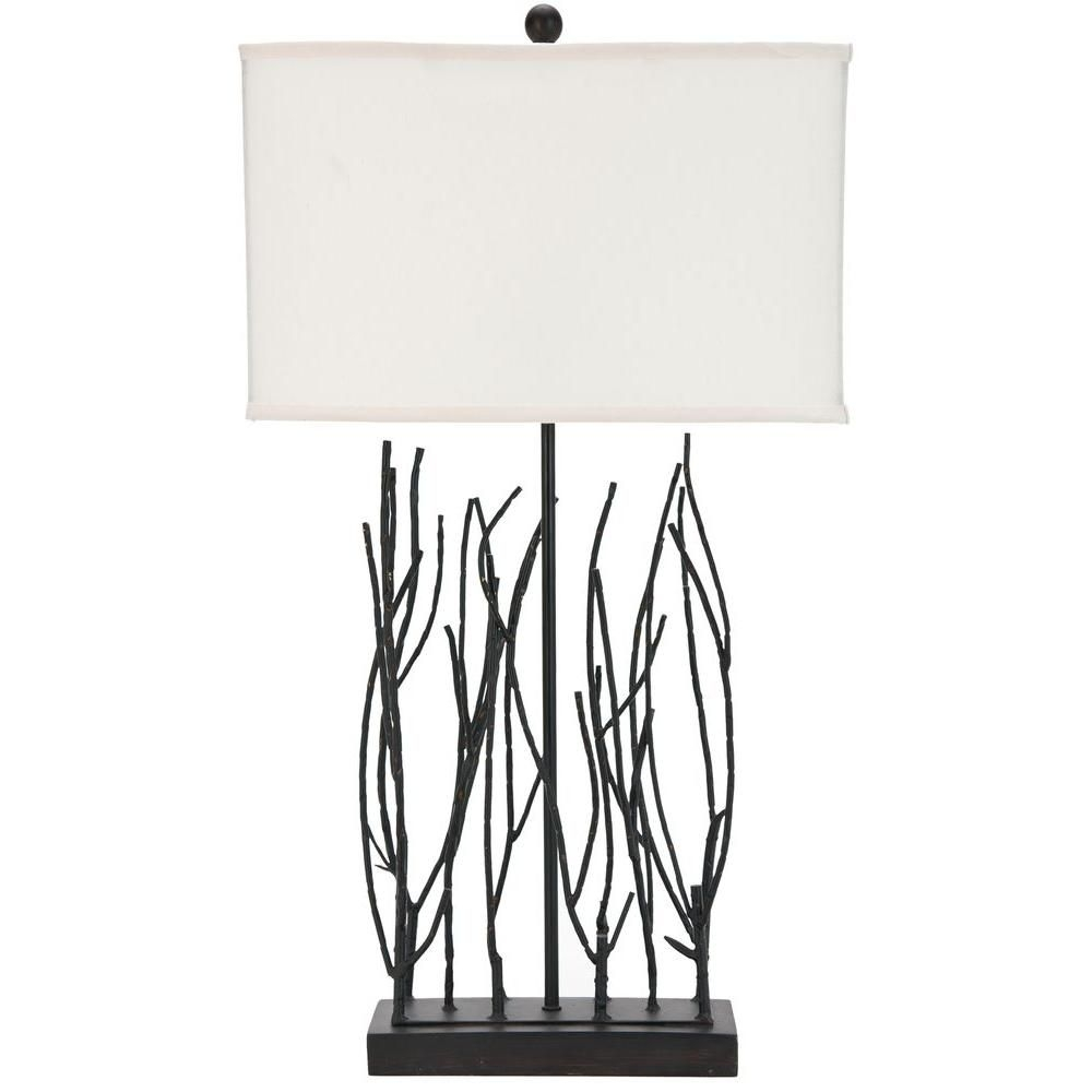Safavieh Twig Wrought Iron Table Lamp, Black