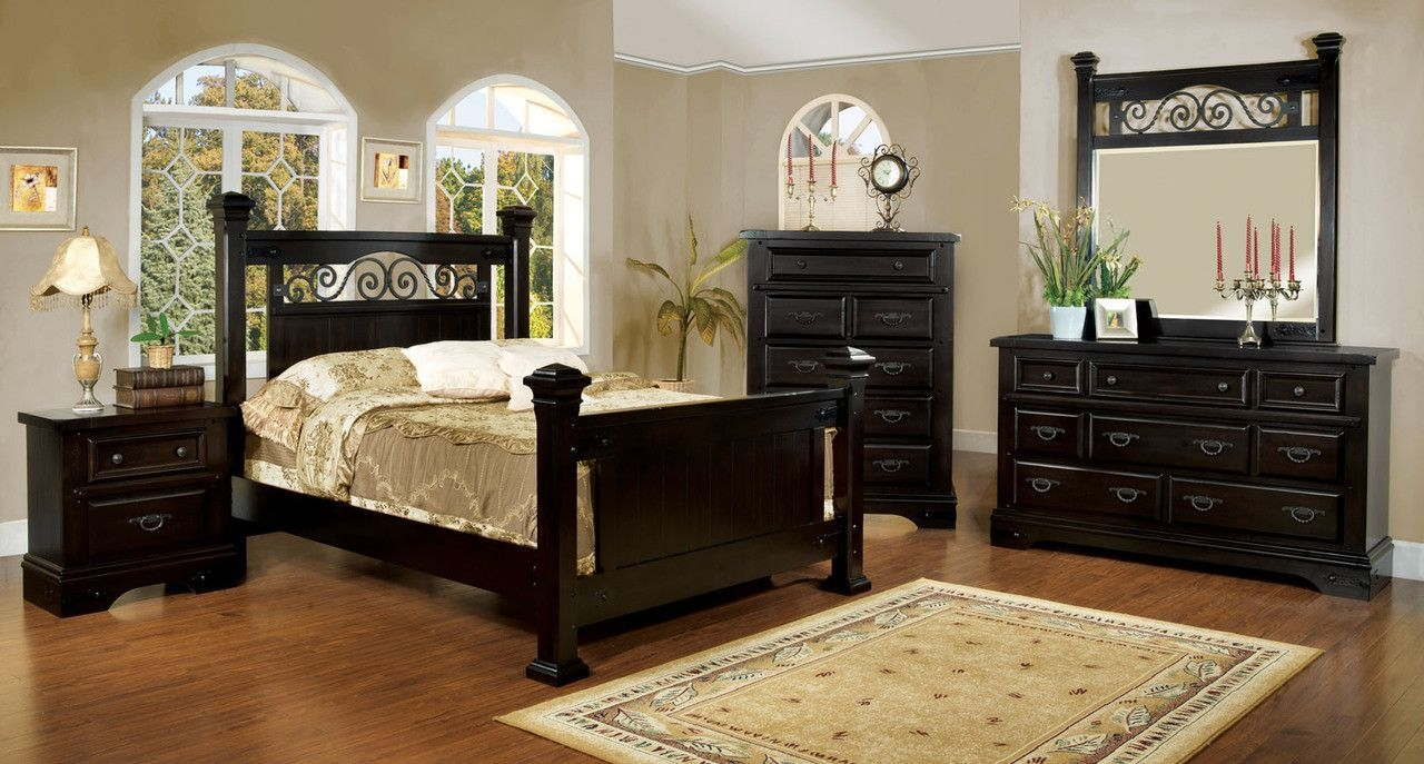 Sonoma Mission Style Espresso Finish Cal King Size Bed Frame Set