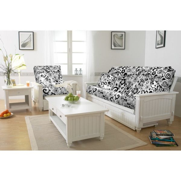 westport home cottage futon queen white white futon frames   foter  rh   foter