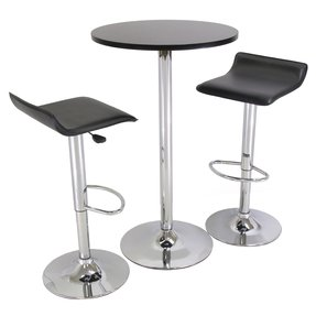 Winsome Wood Black And Chrome Pub Table