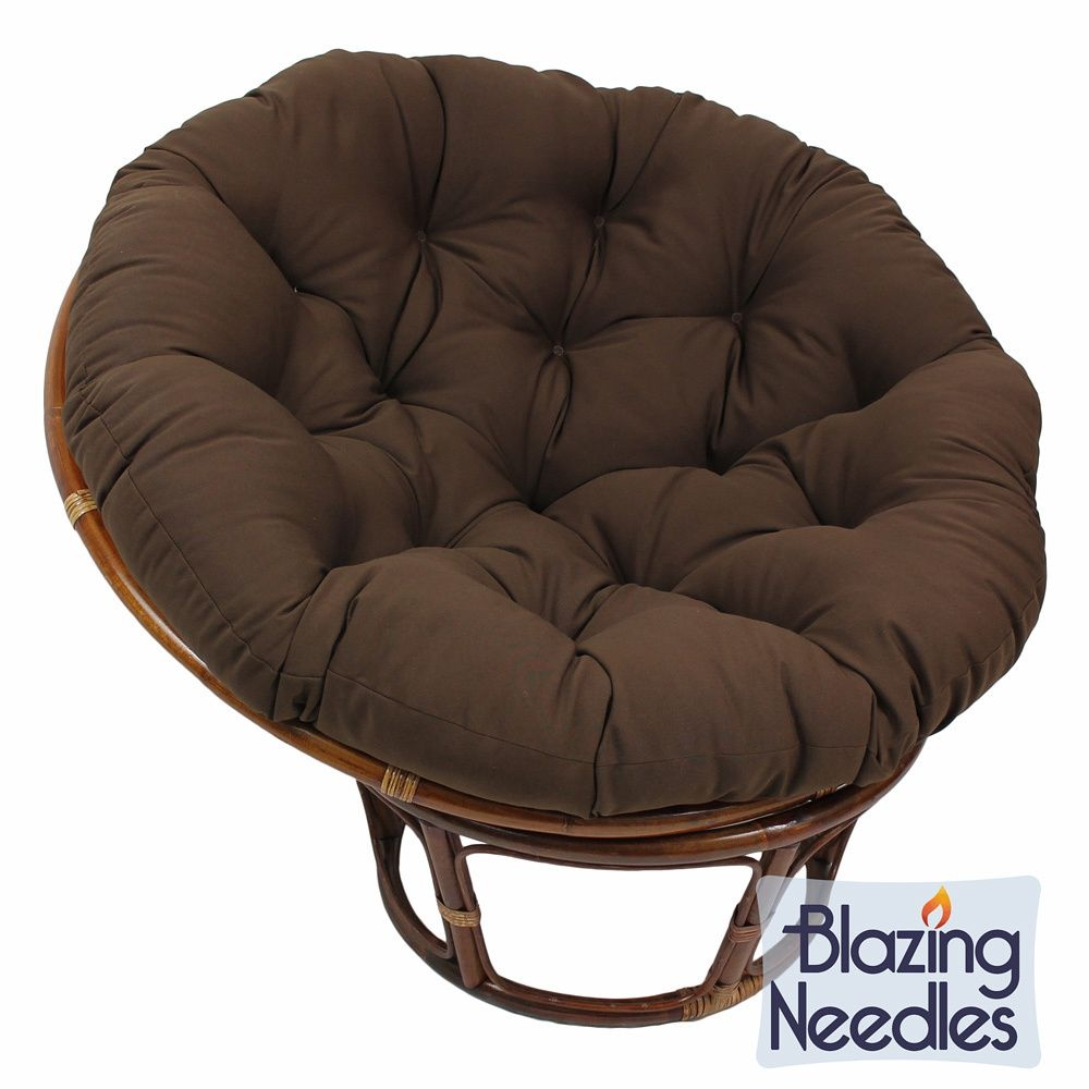 44 Inch Indoor Outdoor Patio Backyard Furnishing Twill Papasan Cushion Sofa  Seat! Chocolate Chair