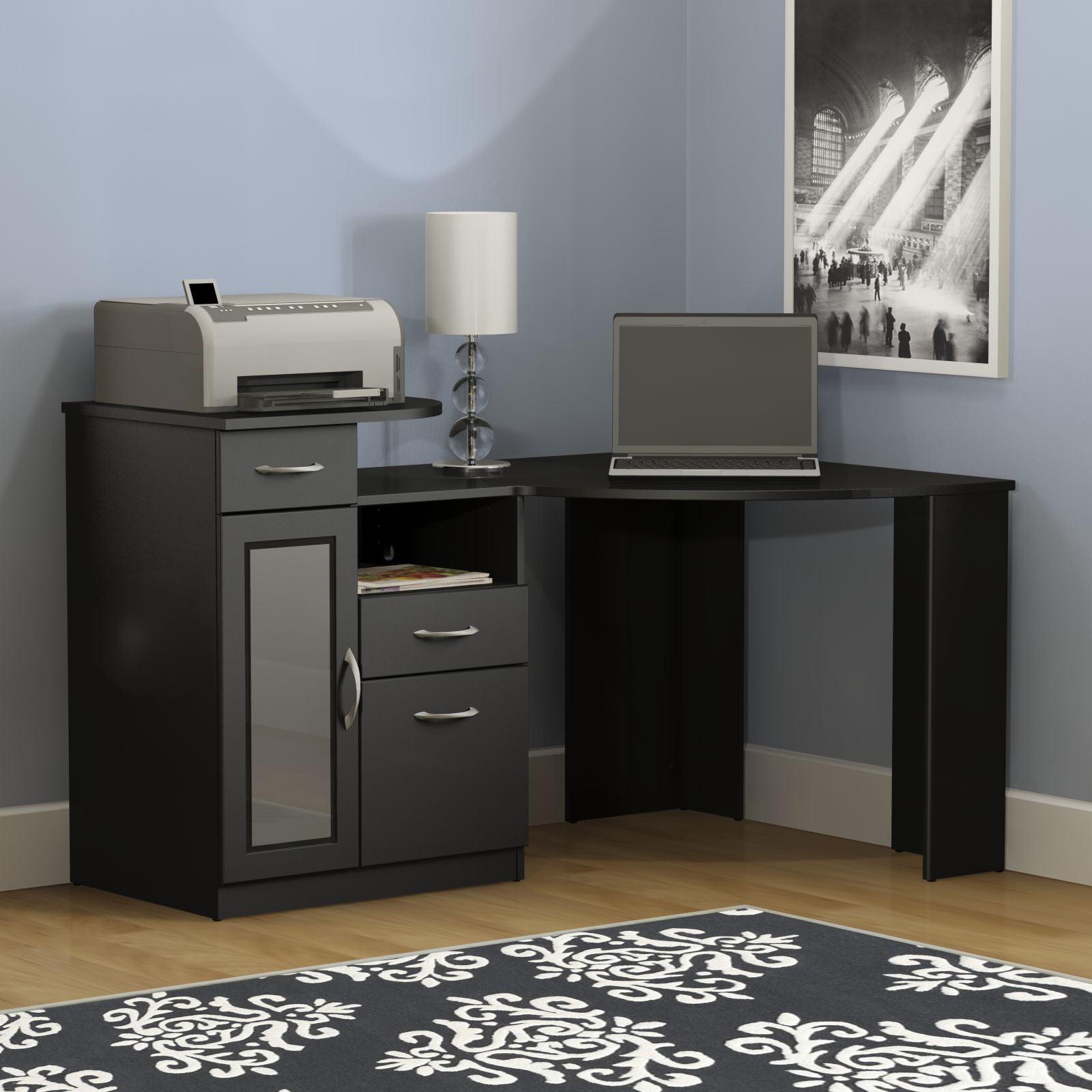 Bush Furniture Vantage Corner Desk, Black