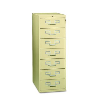 "Card File, 7-Drawer, for 5"" x 8"" Cards, Light Gray TNNCF758LGY"