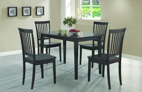 Coaster 5-Piece Dining Set, Table Top with 4 Chairs, Cappuccino Wood