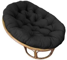 Cotton Craft Papasan Black Overstuffed Chair Cushion Sink Into Our Really Thick