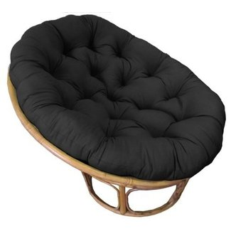 Cotton Craft - Papasan - Black - Overstuffed Chair Cushion - Sink into our Really Thick and Super Comfortable Papasan Cushion - Pure 100% Cotton duck fabric - Perfect fit for your dorm, den or just about anywhere you want to be comfy and pampered - Fits S