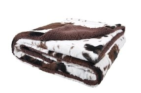 Cowhide Print Throw