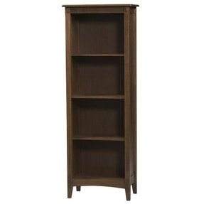 Dark Wood 4-Shelf Bookcase