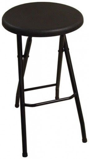 Ebco Products Folding Bar Stool Black 2 Bx Fbs Blk