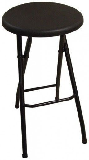 Ebco Products Folding Bar Stool Black 2/BX #FBS-BLK
