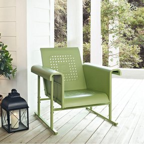 Green Retro Veranda Chair Glider - Classic Comfort