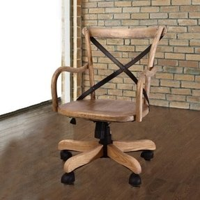 Joveco Vintage Style Solid Wood Bankers Chair