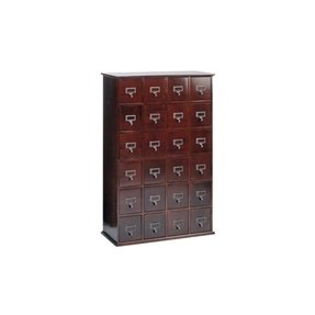 Leslie Dame CD-456C Solid Oak Library File Media Cabinet, Cherry