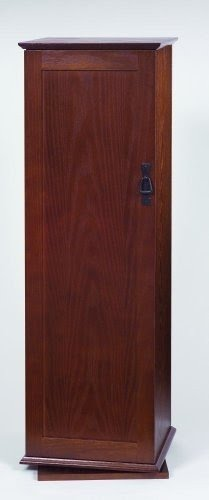 Charmant Leslie Dame CDR 500W Mission Door Spinning Multimedia Storage Tower, Walnut