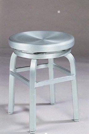 Melanie Swivel Vanity Stool, SWIVEL, BRUSHED ALUMINM