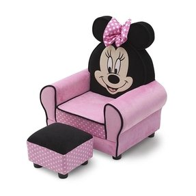 Minnie Mouse Kids Club Chair and Ottoman
