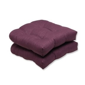 Pillow Perfect Outdoor Rave Vineyard Wicker Seat Cushion, Set of 2