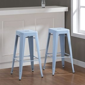 Awesome Light Blue Counter Stools