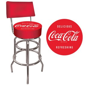 Trademark Corvette C5 Padded Bar Stool with Back (Red)