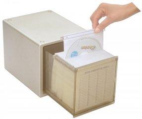 Uzo One Press Single Drawer Cd Dvd Storage Cabinet Media Storage File