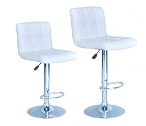 Excellent White Leather Bar Stools Ideas On Foter Machost Co Dining Chair Design Ideas Machostcouk