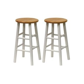 "Winsome Set of 2, Beveled Seat, 24"" Stool, Assembled"
