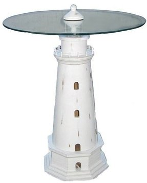 "23.5"" Lighthouse Table Nautical Tropical Home Decor"