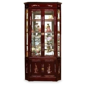 27in Pearl Design Rosewood Corner Cabinet - Cherry