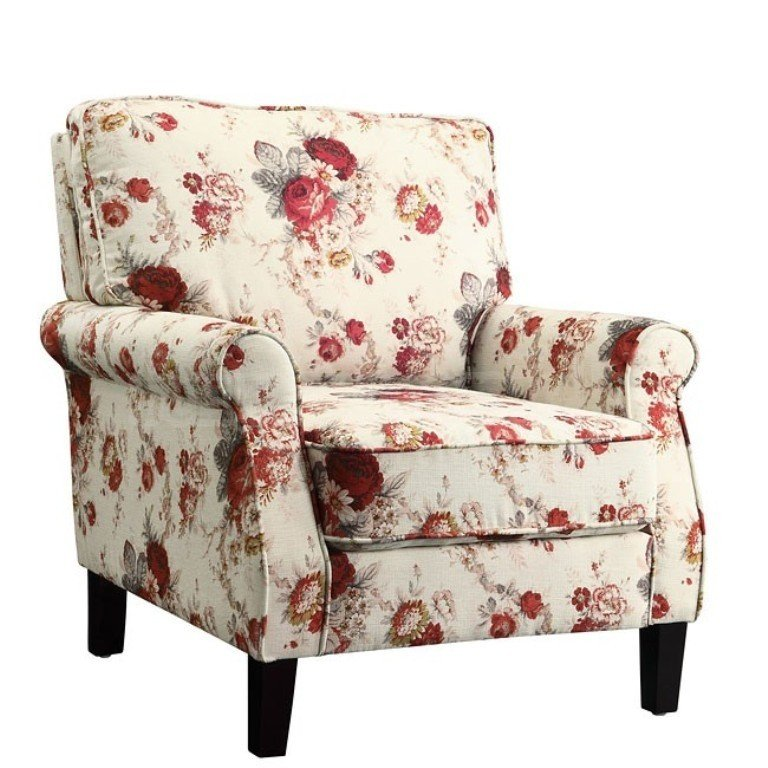 Ordinaire The Homely Look Of This Lovely Armchair Is Accented With An Elegant Yet  Cozy Floral Pattern And Traditional Style Frame. The Armchair Comes With  Rolled Arms ...