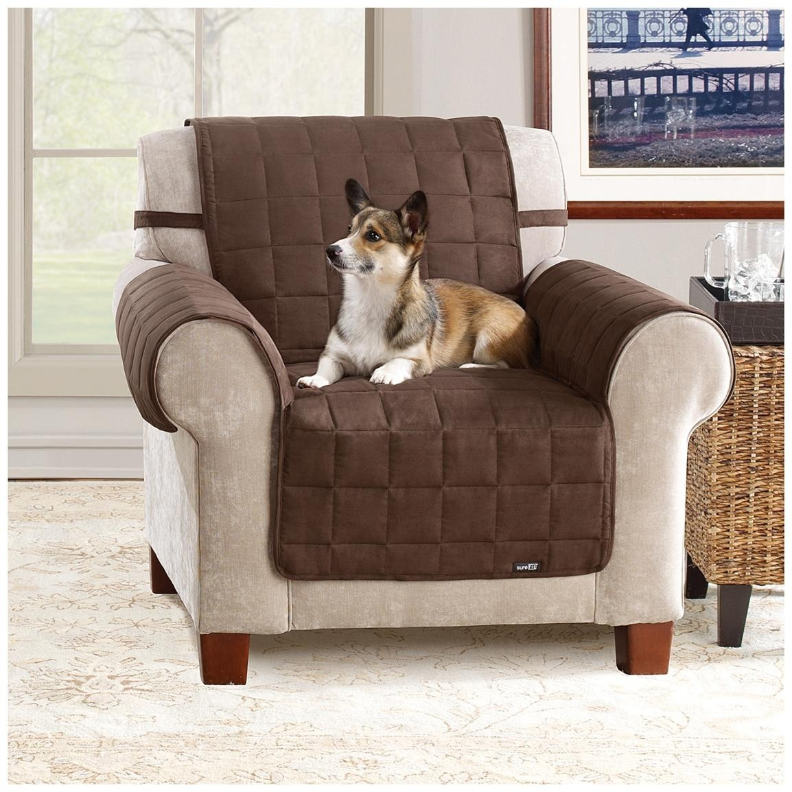 Chair Cover Recliners Slipcover Chair Protector For Pets Brown