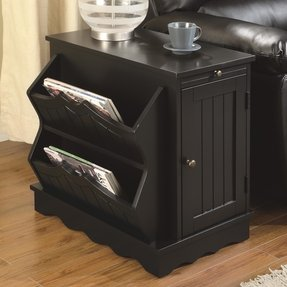 Coaster Black Accent Table with Storage