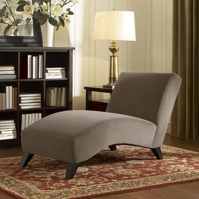 Contemporary Taupe Chaise. This Modern Chaise Lounge Chair Is The Perfect  Piece Of Furniture To