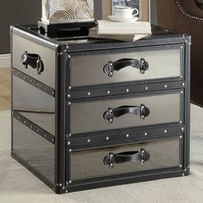 Crestview Collection Lenox Storage Trunk End Table