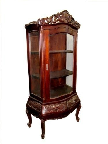 Delicieux D ART Victorian Display China Glass Cabinet   In Mahogany Wood