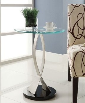Homelegance 4745-02 Galaxy Collection Glass Top Chair Side Table